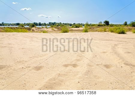 Sand Dune And River