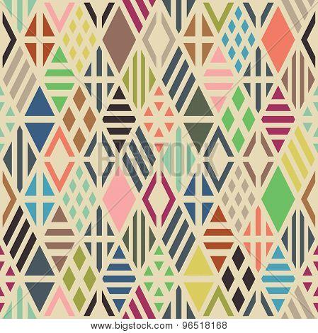 Rhombuses seamless pattern.