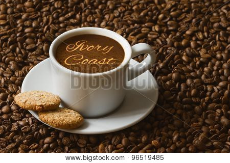 Still Life - Coffee With Text Ivory Coast