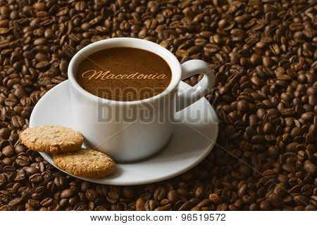 Still Life - Coffee Wtih Text Macedonia