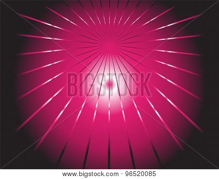 Abstract dark background and pink ray template