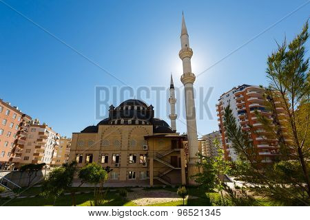 The Mosque In The Province Of Mahmutlar, Alanya