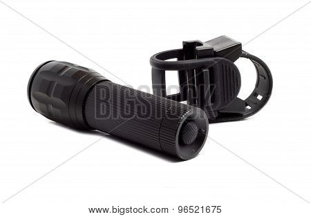 Dusty Rubber Mount For Flashlight And Flashlight