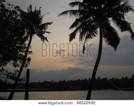 Sunset Kerala Backwaters
