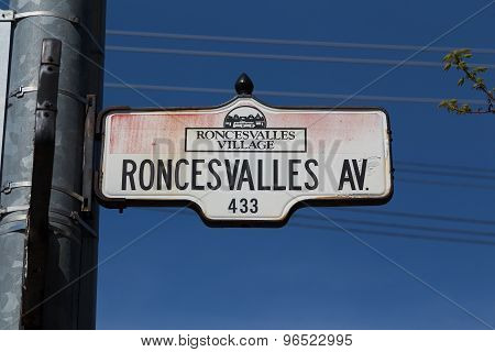 Roncesvalles Avenue In Toronto