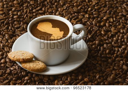 Still Life - Coffee With Map Of Paraguay