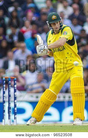 LONDON, ENGLAND - June 17 2013: Australia's Adam Voges batting during the ICC Champions Trophy international cricket match between Sri Lanka and Australia.