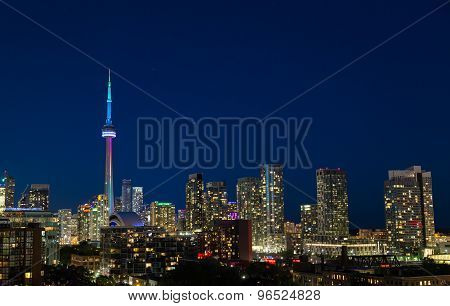 Toronto Skyline And World Pride