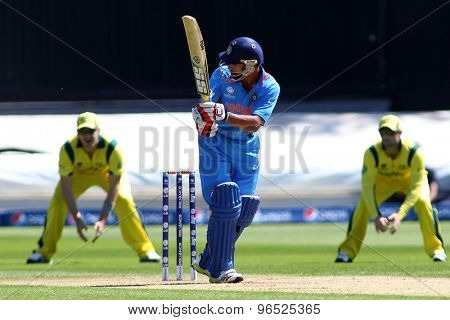 CARDIFF, WALES - June 04 2013: India's Shikhar Dhawan during the ICC Champions Trophy warm up match between India and Australia at the Cardiff Wales Stadium on June 04, 2013 in Cardiff, Wales