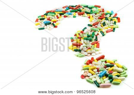 Question Mark Made Of Pills
