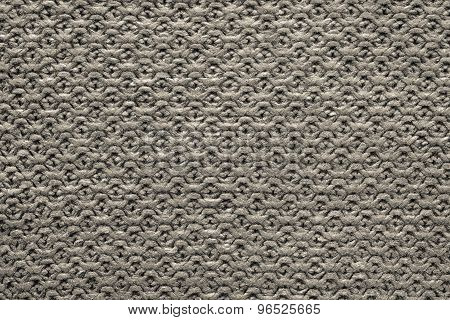 Knitted Cellular Texture Of Dark Beige Color