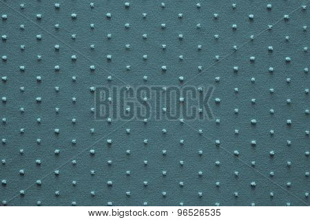 Knitted Fabric Of Turquoise Color With Fluffy Blond Specks