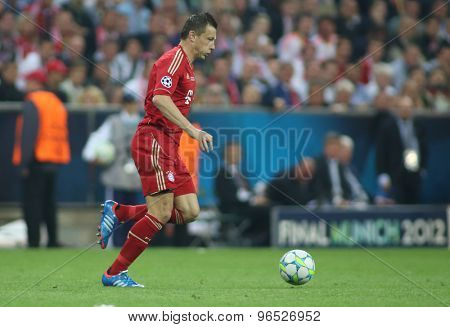 MUNICH, GERMANY May 19 2012. in action during the 2012 UEFA Champions League Final at the Allianz Arena Munich contested by Chelsea and Bayern Munich