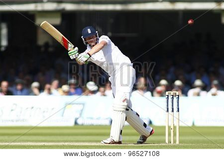 LONDON, ENGLAND. AUGUST 17 2012 England's Jonny Bairstow batting during the third Investec cricket  test match between England and South Africa, at Lords Cricket Ground