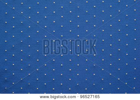 Thin Knitted Fabric Of Blue Color With Blond Specks