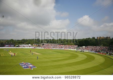 CHESTER LE STREET, ENGLAND. JULY 07 2012: A general view during the 4th one day international between England and Australia