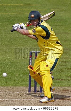 CHESTER LE STREET, ENGLAND. JULY 07 2012: Australia's David Hussey, during the 4th one day international between England and Australia