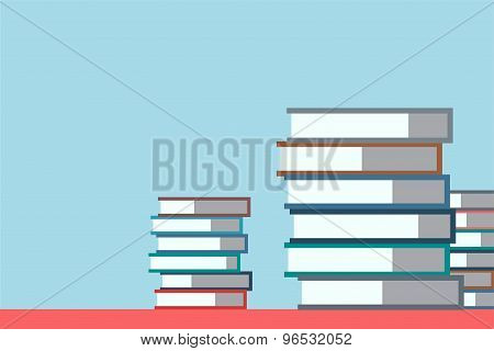 Books stack. Vector isolated. School objects, or university and college symbols. Stock design elemen