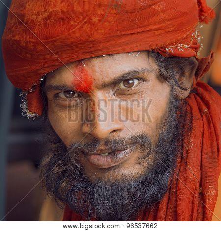 Indian Sadhu, Holy Man. Haridwar, Uttarakhand, India.