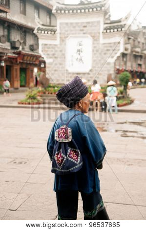 Seniors Tujia Minority Of Fenghuang Ancient City.