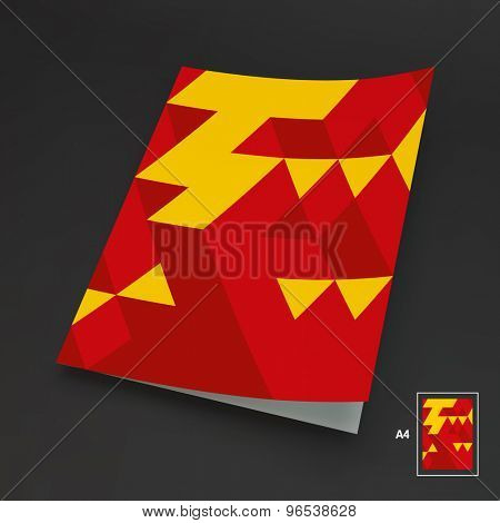 A4 Business Blank. 3d Blocks Structure Background. Vector Illustration. Can Be Used For Advertising, Marketing And Presentation.