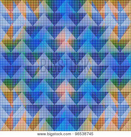 Geometric Seamless Colorful Pattern
