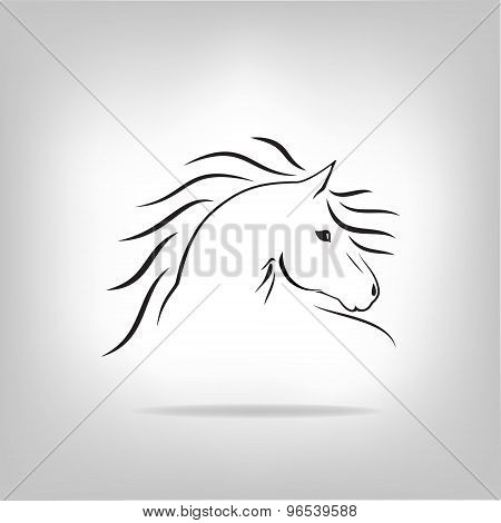 Vector image of a horse