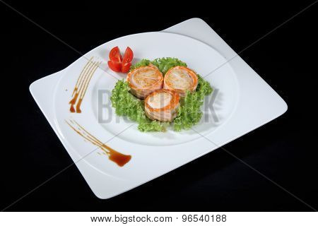 Scallop Dish With Vegetables
