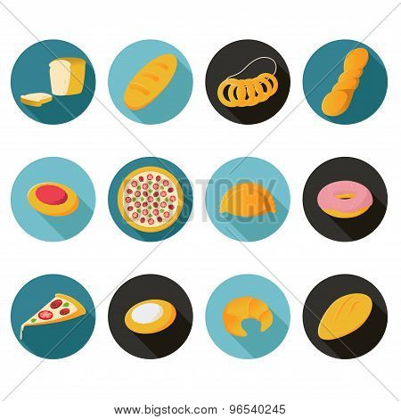 Collection Of Flat Bread Icons