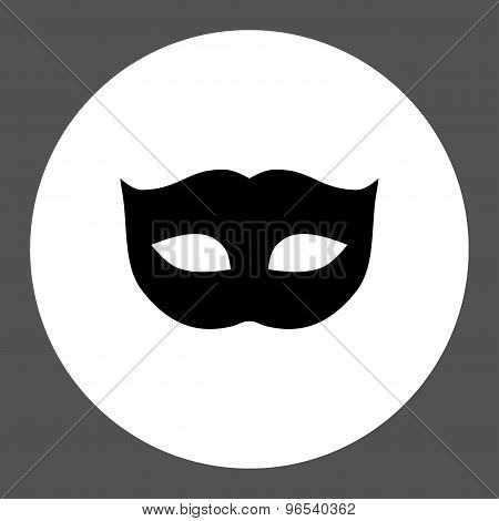 Privacy Mask flat black and white colors round button