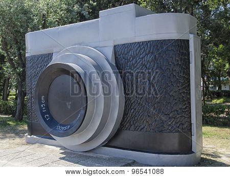 Enormous Camera In Park Of Rimini