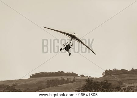 Flying Microlight Plane Vintage