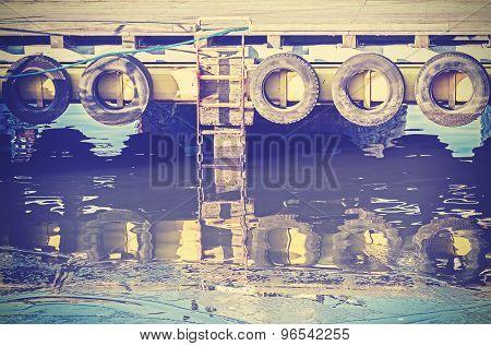 Vintage Instagram Toned Industrial Background.