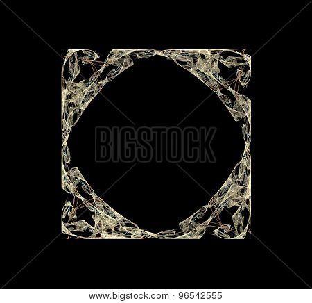Abstract Fractal Design.  Square Frame.