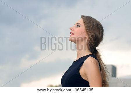 Portrait Of A Joyful And Happy Business Woman
