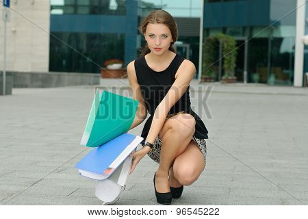 Woman Dropped To The Ground Folders