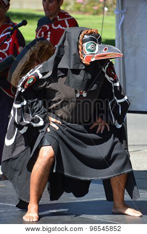Native Indian man in traditional costume