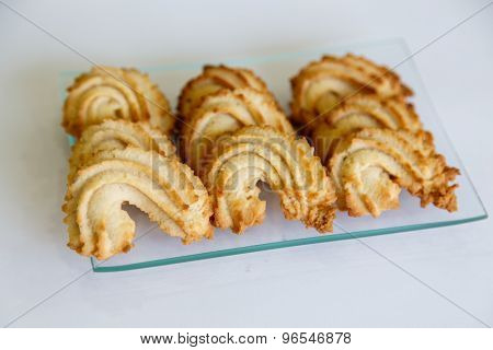 Pastry Cookies On White Background
