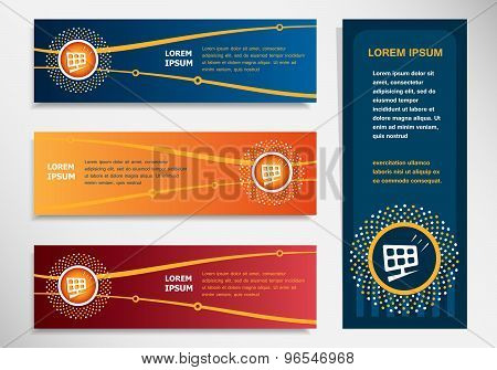 Solar Panel On Modern Abstract Flyer, Banner, Brochure Design Template