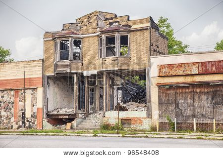 Urban Blight In Detroit