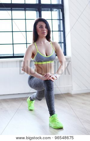 Sport. Beautiful girl in the gym