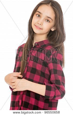 Charming girl of school age