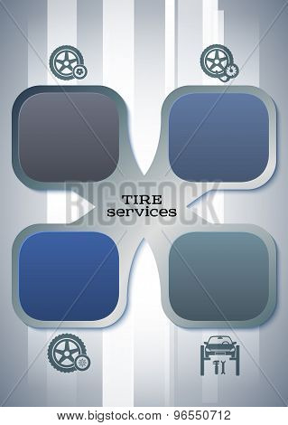 Car Tire Service Booklet Layout Proportions A4 Sheet
