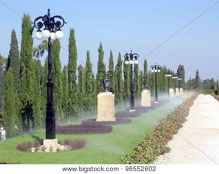 Akko Bahai Gardens Watering Alley 2003