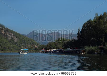 Mountain river ships