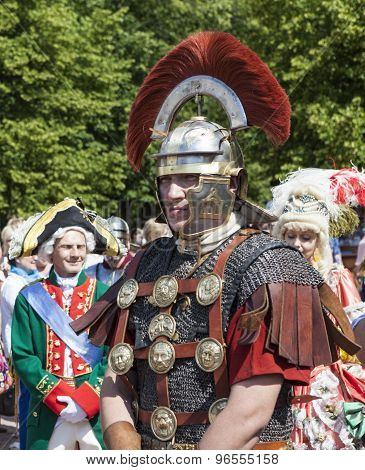 PAVLOVSK, RUSSIA - JULY 18, 2015: Photo of Centurion.
