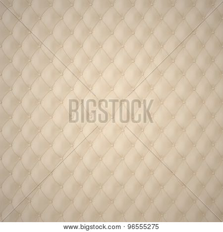 Beige Capitone Upholstery Pattern
