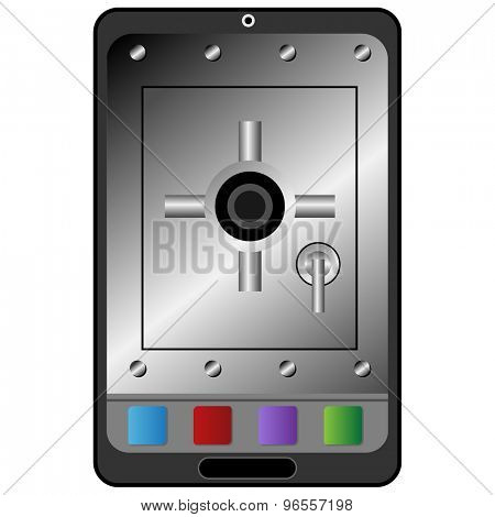An image of a electronic device security icon.