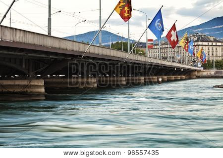 Bridge in Swiss city of Geneva
