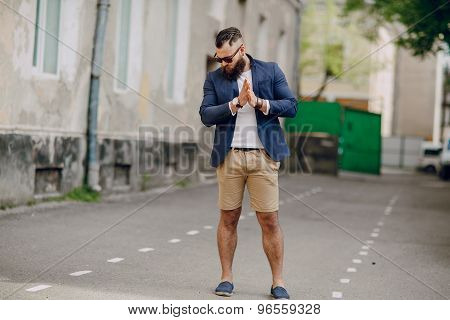 fashion bearded man